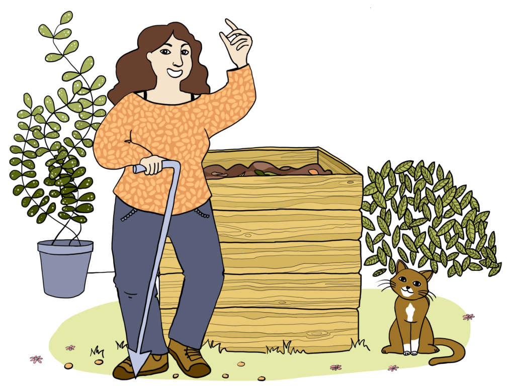 je visite un compost